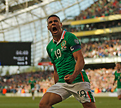 June 11th 2017, Dublin, Republic Ireland; 2018 World Cup qualifier, Republic of Ireland versus Austria; Jonathan Walters celebrates scoring the equalising goal for Republic of Ireland in the 85th minute [1-1]