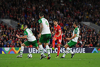 Aaron Ramsey of Wales has a shot during the UEFA Nations League B match between Wales and Ireland at Cardiff City Stadium in Cardiff, Wales, UK.September 6, 2018