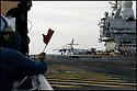 -Mer Méditerranée- Porte Avions Charles de Gaulle- Super Etendard sur le pont d'envol.