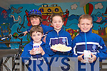 Pupils from CBS Tralee  are taking part in numerous activities and events this week as part of the schools 2010 active school weeks which includes sporting activities, cycle to school initiatives and healthy eating promotions. .Pictured back Ben O'Sullivan who cycled to school this week and .Front L-R Cormac O'Riordan, Niamh Murphy and Donnacha Foz