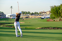 Thorbjorn Olesen (DEN) on the 18th fairway during the 1st round of the DP World Tour Championship, Jumeirah Golf Estates, Dubai, United Arab Emirates. 15/11/2018<br /> Picture: Golffile | Fran Caffrey<br /> <br /> <br /> All photo usage must carry mandatory copyright credit (© Golffile | Fran Caffrey)