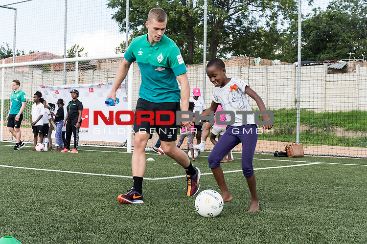 08.01.2019, AMANDLA Save Hub, Johannesburg, RSA, TL Werder Bremen Johannesburg Tag 06 - Besuch des AMANDLA Save Hub<br /> <br /> im Bild / picture shows <br /> <br /> Felix Beijmo (Werder Bremen #02)<br /> <br /> **** Attention *** **** Attention *** <br /> <br /> Only be used for the purpose of documenting the Safe-Hub visit on 08 January 2019<br /> <br /> Foto &copy; nordphoto / Kokenge