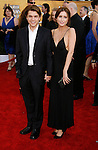 LOS ANGELES, CA. - January 25: Actor Emile Hirsch and Brianna Domont arrive at the 15th Annual Screen Actors Guild Awards held at the Shrine Auditorium on January 25, 2009 in Los Angeles, California.