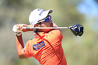 Yikeun Chang (KOR) in action on the 9th during Round 2 of the ISPS Handa World Super 6 Perth at Lake Karrinyup Country Club on the Friday 9th February 2018.<br /> Picture:  Thos Caffrey / www.golffile.ie<br /> <br /> All photo usage must carry mandatory copyright credit (&copy; Golffile   Thos Caffrey)