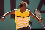 Paris, France. May 30th 2009. .Roland Garros - Tennis French Open. 3rd Round..French player Gael Monfils against Jurgen Melzer