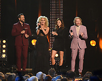LOS ANGELES, CA - FEBRUARY 8: Karen Fairchild, Kimberly Schlapman, Phillip Sweet, and Jimi Westbrook of Little Big Town host the 2019 MusiCares Person of the Year Tribute Honoring Dolly Parton at the Los Angeles Convention Center on February 8, 2019 in Los Angeles, California. (Photo by Frank Micelotta/PictureGroup)