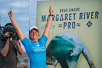 Margaret River, Western Australia/AUS (Friday, April 15, 2016) Tyler Wright (AUS) - The Drug Aware Margaret River Pro recommenced today as the winds had swung offshore and the swell had jumped back up to a solid 6'<br /> <br /> Round Four and Five of the men's was completed as well as the completion of the Women's event.<br />  <br /> The final event of the tour&rsquo;s Australian leg, the Drug Aware Margaret River Pro picks up where Snapper Rocks and Bells Beach left off, transporting the world&rsquo;s best surfer to the wilds of Western Australia where Margaret River Main Break, the infamous Box and newcomer North Point are all options over the coming two weeks.<br /> <br /> <br /> Photo: joliphotos.com