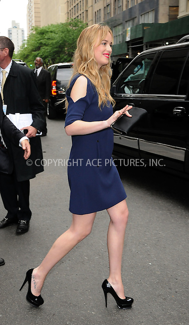 WWW.ACEPIXS.COM . . . . .  ....May 14 2012, New York City....Dakota Johnson leaving a midtown hotel on May 14 2012 in New York City....Please byline: CURTIS MEANS - ACE PICTURES.... *** ***..Ace Pictures, Inc:  ..Philip Vaughan (212) 243-8787 or (646) 769 0430..e-mail: info@acepixs.com..web: http://www.acepixs.com