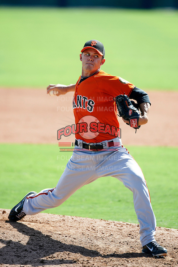 San Francisco Giants minor league pitcher Chris Marlowe #37 during an instructional league game against the Colorado Rockies at the Salt River Flats Complex on October 4, 2012 in Scottsdale, Arizona.  (Mike Janes/Four Seam Images)