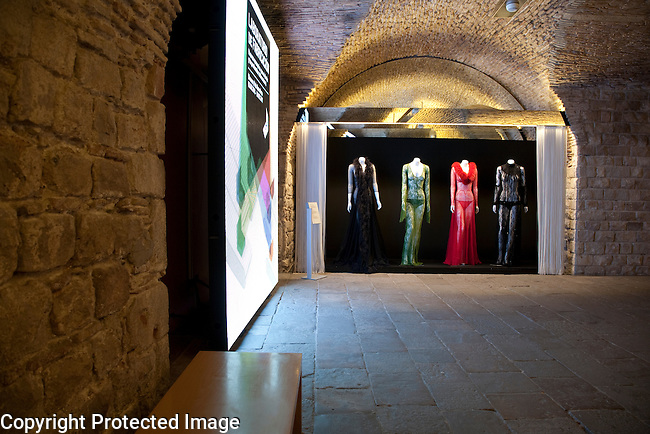 Interior of Museu Textil i de Indumentaria - Textile and Fashion Museum, La Ribera in Barcelona, Catalonia, Spain