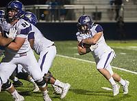 NWA Democrat-Gazette/BEN GOFF @NWABENGOFF<br /> Jacob Sharits, Fayetteville running back, scores a touchdown in the fourth quarter vs Springdale Har-Ber Friday, Nov. 2, 2018, during the game at Wildcat Stadium in Springdale.