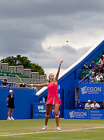 Victoria Azarenka (BLR) against Ekaterina Makarova (RUS) in the women's final. Ekaterina Makarova beat Victoria Azarenka 7-6 6-4..International Tennis - 2010 Sony Ericsson WTA Tour - AEGON International - Devonshire Park Lawn Tennis Centre - Eastbourne - Day 6 - Sat 19 Jun 2010..© AMN Images - FREY - Level 1, Barry House, 20-22 Worple Road, London, SW19 4DH.Tel - +44 (0) 20 8947 0100.Email - mfrey@advantagemedianet.com.www.advantagemedianet.com