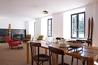 An apartment in the hotel boasts a vast living/dining area
