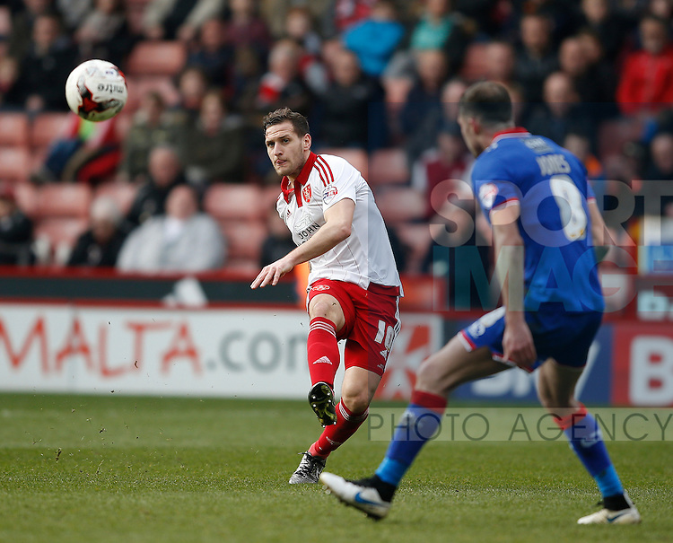 Billy Sharp of Sheffield Utd in action during the Sky Bet League One match at The Bramall Lane Stadium.  Photo credit should read: Simon Bellis/Sportimage