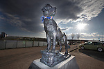 Bamse, the heroic life saving Norwegian sea going dog immortalised in bronze at Montrose harbour. Bamse translates into English as Teddy Bear