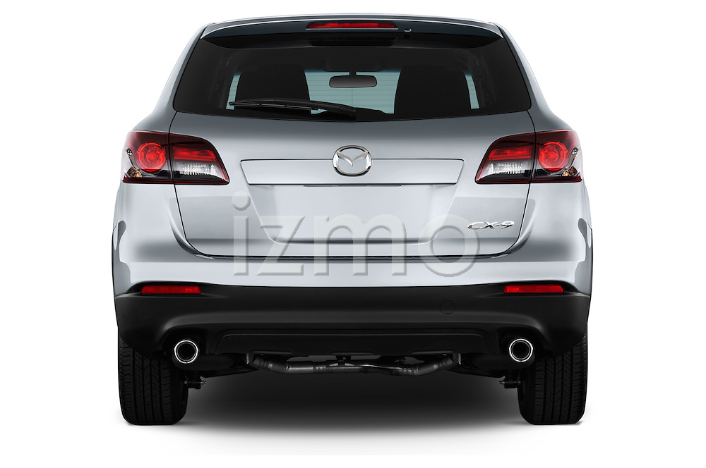 Straight rear view of a 2013 Mazda CX9