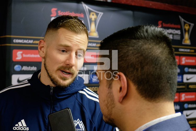 Harrison, NJ - Wednesday Feb. 22, 2017: Jordan Harvey after a Scotiabank CONCACAF Champions League quarterfinal match between the New York Red Bulls and the Vancouver Whitecaps FC at Red Bull Arena.