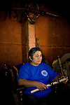 Winnemem chief and spiritual leader Caleen Sisk-Franco sits in their prayer house in Jones Valley, Calif. March 17, 2010.