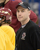 Mike Cavanaugh - The Boston College Eagles practiced on Wednesday, April 5, 2006, at the Bradley Center in Milwaukee, Wisconsin, in preparation for their 2006 Frozen Four Semi-Final game against the University of North Dakota.