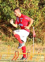 BARRANQUILLA - COLOMBIA - 05 - 01 -2017: Bernardo Cuesta, player of Atletico Junior, during a training session. Photo: VizzorImage / Alfonso Cervantes / Cont.