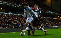 Blackburn Rovers' Bradley Dack is tackled by Newcastle United's Javi Manquillo<br /> <br /> Photographer Alex Dodd/CameraSport<br /> <br /> Emirates FA Cup Third Round Replay - Blackburn Rovers v Newcastle United - Tuesday 15th January 2019 - Ewood Park - Blackburn<br />  <br /> World Copyright © 2019 CameraSport. All rights reserved. 43 Linden Ave. Countesthorpe. Leicester. England. LE8 5PG - Tel: +44 (0) 116 277 4147 - admin@camerasport.com - www.camerasport.com
