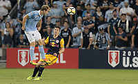 Kansas City, KS - Wednesday September 20, 2017: 	Seth Sinovic during the 2017 U.S. Open Cup Final Championship game between Sporting Kansas City and the New York Red Bulls at Children's Mercy Park.