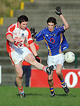 12-02-12:  Tomas O'Ciobhain, Pobal Scoil Chorcha Dhuibhne, breaks away from Shane Walsh, Tralee CBS  in the  Munster Colleges Corn Uí Mhuiri Semi-Final at the  Dr. Crokes grounds, Killarney on Sunday.    Picture: Eamonn Keogh (MacMonagle, Killarney)