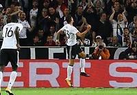 celebrate the goal, Torjubel zum 6:0 von Mario Gomez (Deutschland Germany)- 04.09.2017: Deutschland vs. Norwegen, Mercedes Benz Arena Stuttgart