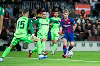 30th January 2020; Camp Nou, Barcelona, Catalonia, Spain; Copa Del Rey Football, Barcelona versus Leganes; Frenkie de Jong of FC Barcelona is challenged by Mesa of Leganes