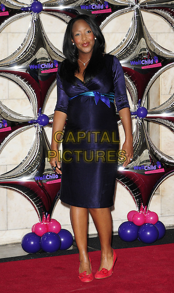 ANGELLICA BELL.WellChild Awards 2011, InterContinental hotel, Park Lane, London, England..August 31st, 2011.full length purple dress pink shoes pregnant.CAP/CAN.©Can Nguyen/Capital Pictures.