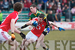 Kerry's Paul Geaney and Cork's Rory O'Sullivan.