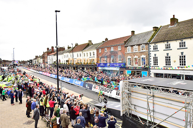 The start of the Men Elite Individual Time Trial of the UCI World Championships 2019 running 54km from Northallerton to Harrogate, England. 25th September 2019.<br /> Picture: Allan McKenzie/SWpix.com | Cyclefile<br /> <br /> All photos usage must carry mandatory copyright credit (© Cyclefile | Allan McKenzie/SWpix.com)