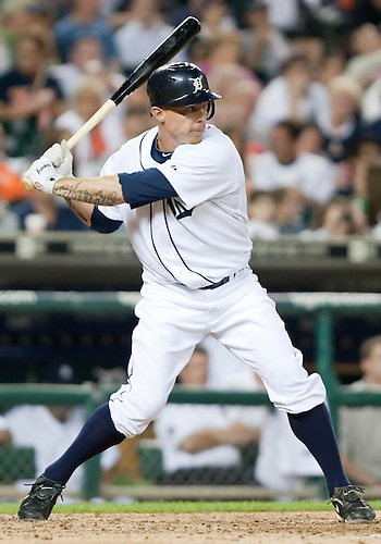 June 15, 2010: Detroit Tigers third baseman Brandon Inge (#15) at bat in game action between the Washington Nationals and the Detroit Tigers at Comerica Park in Detroit, Michigan.  The Tigers defeated the Nationals 7-4..
