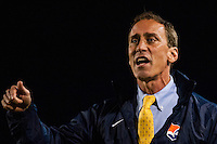 Sky Blue FC head coach Jim Gabarra. Sky Blue FC defeated the Seattle Reign FC 2-0 during a National Women's Soccer League (NWSL) match at Yurcak Field in Piscataway, NJ, on May 11, 2013.