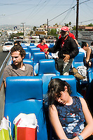 Tour bus Tijuana. Press toy around Baja California Norte