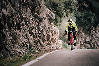 John DEGENKOLB (DEU/Trek-Segafredo) during a full effort ascent<br /> <br /> Team Trek-Segafredo men's team<br /> training camp<br /> Mallorca, january 2019<br /> <br /> ©kramon