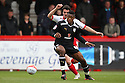 Chuks Aneke of Preston holds off Ronnie Henry of Stevenage. - Stevenage v Preston North End - npower League 1 - Lamex Stadium, Stevenage - 9th April, 2012. © Kevin Coleman 2012