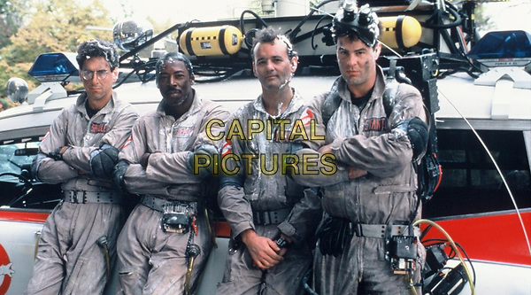 Ghostbusters (1984) <br /> Dan Aykroyd, Bill Murray, Harold Ramis &amp; Ernie Hudson<br /> *Filmstill - Editorial Use Only*<br /> CAP/KFS<br /> Image supplied by Capital Pictures