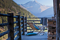Spectacular views of Mont Blanc and the surrounding mountains are enjoyed from the rustic terrace