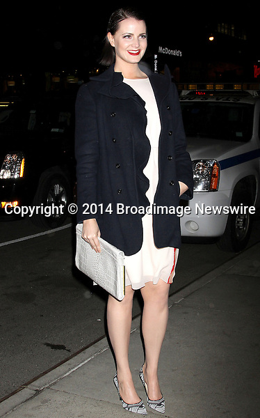 Pictured: Amy Newbold <br /> Mandatory Credit &copy; DDNY/Broadimage<br /> Marie Claire &amp; The Cinema Society Host A Screening Of Summit Entertainment's &quot;Divergent&quot; - Outside Arrivals<br /> <br /> 3/20/14, New York, New York, United States of America<br /> <br /> Broadimage Newswire<br /> Los Angeles 1+  (310) 301-1027<br /> New York      1+  (646) 827-9134<br /> sales@broadimage.com<br /> http://www.broadimage.com