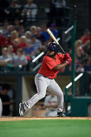 Pawtucket Red Sox Josh Tobias (15) bats during an International League game against the Rochester Red Wings on June 28, 2019 at Frontier Field in Rochester, New York.  Pawtucket defeated Rochester 8-5.  (Mike Janes/Four Seam Images)