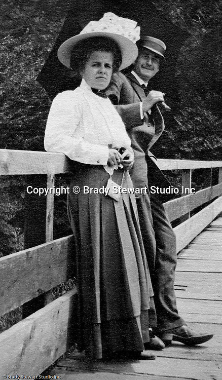 North East PA: Helen, Clark and the family dressed up and going in town for dinner.  During the early 1900s, the Stewart family vacationed on Lake Erie near North East Pennsylvania. Since hotels and motels were non-existent, camping was the only viable option for a large number of vacationers