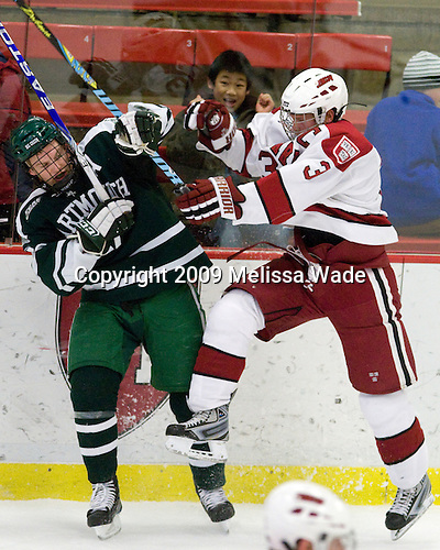 Scott Fleming (Dartmouth - 17), Alex Biega (Harvard - 3) - The Harvard University Crimson defeated the Dartmouth College Big Green 4-1 (EN) on Monday, January 18, 2010, at Bright Hockey Center in Cambridge, Massachusetts.