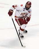 Evan Janssen (DU - 26) - The University of Denver Pioneers defeated the University of Minnesota Duluth Bulldogs 3-2 to win the national championship on Saturday, April 8, 2017, at the United Center in Chicago, Illinois.