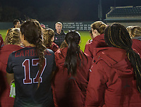 STANFORD, CA - November 9, 2018: Paul Ratcliffe at Laird Q. Cagan Stadium. The top seeded Stanford Cardinal defeated the Seattle Redhawks 3-0 in the opening round of the NCAA tournament.