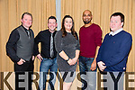 Fels Point Hotel Staff At their Belated Christmas Party in Manor West Hotel on Friday David Harrington, Liam Hurley, Laura Reidy, James Fabian, Denis Deary