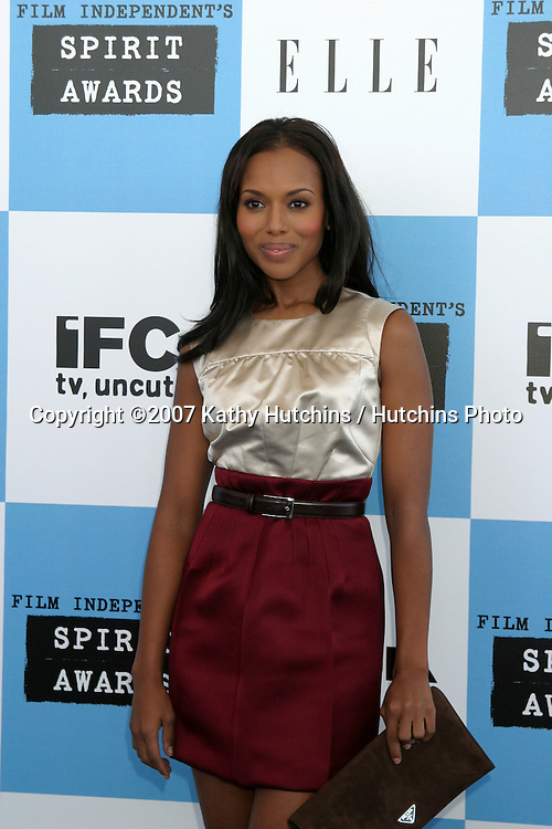 Kerry Washington.2007 Film Independent's Spirit Awards.On the Beach.Santa Monica, CA.February 24, 2007.©2007 Kathy Hutchins / Hutchins Photo....
