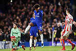 Willian of Chelsea celebrates scoring his goal to make it 4-0 during the premier league match at Stamford Bridge Stadium, London. Picture date 30th December 2017. Picture credit should read: Robin Parker/Sportimage
