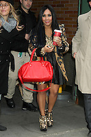NEW YORK, NY - NOVEMBER 5: NIcole 'Snooki' Polizzi at Good Morning America Studios as Disney and ABC's team up with the American Red Cross for a ?Day of Giving? to raise money for hurricane relief efforts. November 5, 2012. ©RW/MediaPunch Inc. .<br /> ©NortePhoto