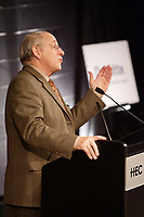 Michel Audet , Minister of Finances, Quebec<br /> speak about the environment and Canada's future at <br /> COLLOQUE 2007 - Batissons l'avenir. February 3rd 2007 in Montreal.<br /> Photo :P. Roussel -  Images Distribution